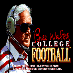 Bill Walsh College Football (U) Title Screen